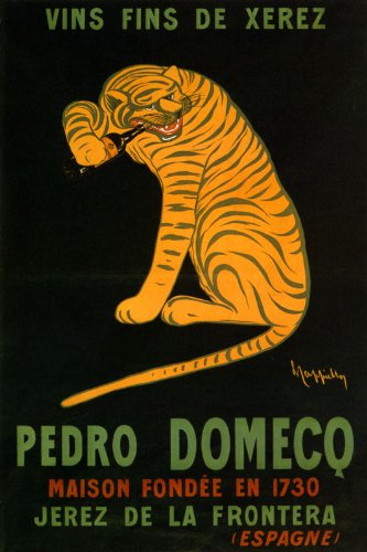 VINS FINS DE XEREZ PEDRO DOMECO WINE YELLOW TIGER ALCOHOL DRINK SPAIN BY CAPPIELLO 16