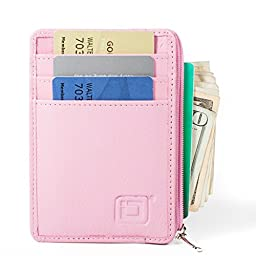 RFID Blocking Secure Mini Wallet - Pink