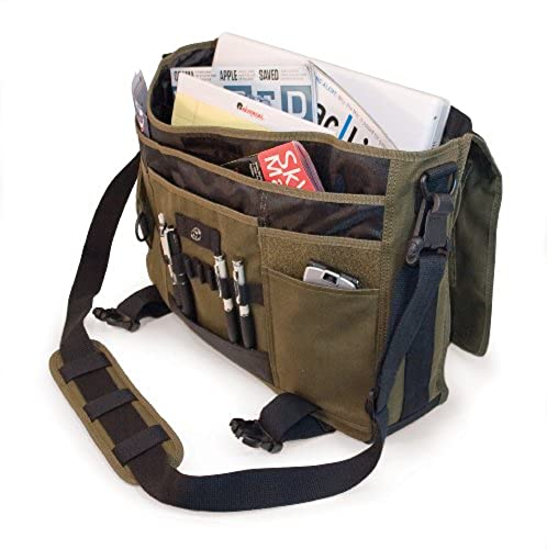 06. 17.3-Inch Eco-Friendly Canvas Messenger Bag (Green)