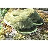 Zehensteg aus Lammfell in grün
