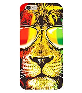 Fiobs Bob Marley Tiger Flag Theme Cool Tiger Phone Back Case Cover for Apple iPhone 6s Plus