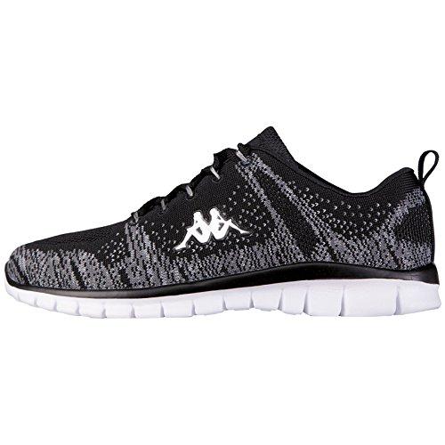 kappa-unisex-erwachsene-caria-sneakers-schwarz-1113-black-anthra-44-eu