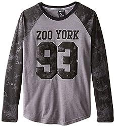 Zoo York Big Boys' Unbreakable Long Sleeve Raglan, Smolder Heather, Large 14/16