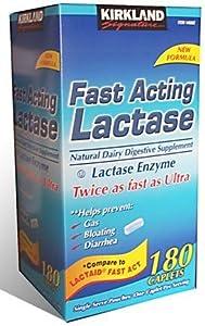 Kirkland Signature Fast Acting Lactase Caplets 180 count