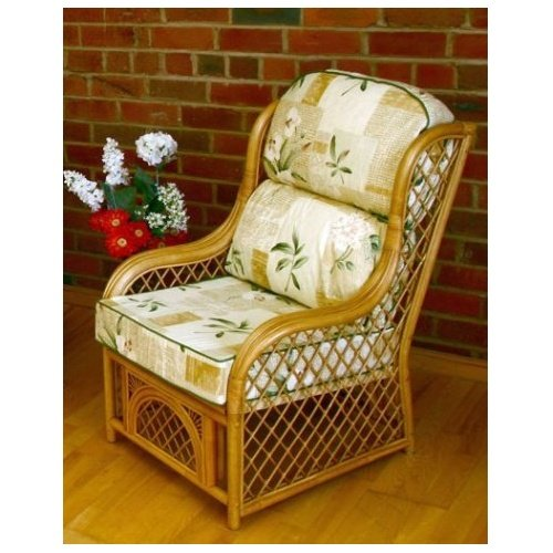 Home & Garden Direct Cadiz Natural Conservatory Chair 2 Pack