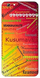 Kusumavati (flowering) Name & Sign Printed All over customize & Personalized!! Protective back cover for your Smart Phone : Moto G-4-PLAY