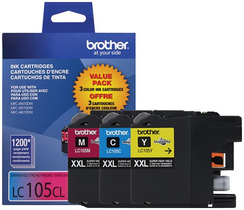 Brother LC1053PKS Ink Printer, XXL -3 Pack (Brother Ink Lc105 Xxl compare prices)