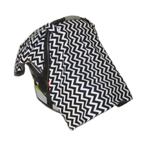 Car Seat & Stroller Canopy/Cover Zig Zag (Black) front-30997