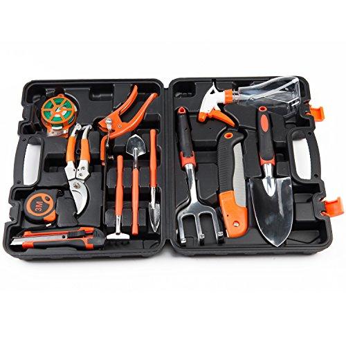 Garden tool set 12 pieces gardening hand tool kit plant for Gardening tools kit set india