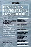 Finance and Investment Handbook (Barron's Finance and Investment Handbook) (0764155547) by John Downes