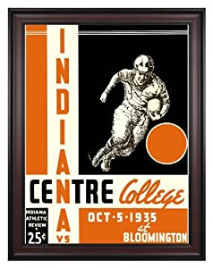 1935 Indiana Hoosiers vs Centre College Colonels 36x48 Framed Canvas Historic... by Mounted Memories