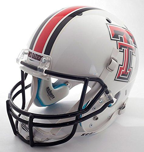 TEXAS TECH RED RAIDERS 2010 Football Helmet DECALS (WHITE/STRIPES) (Football Helmet Stripes compare prices)