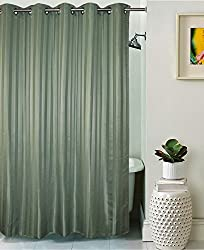 Lushomes Unidyed Feldspar Polyester Shower Curtain with 10 Eyelets