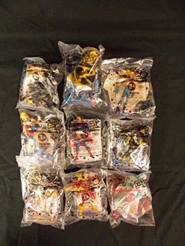 Jack In The Box DC Super Heroes, 2001 Complete Set of 9 of Jack's Kid's Meal, VERY VERY RARE (Jack In The Box Kids Meal Toys compare prices)