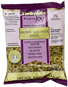 Tinkyada Brown Rice Elbows with Rice Bran, 16-Ounce Packages (Pack of 12)