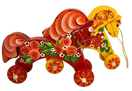 hand-painted-horse-on-wheels-pretend-play-wooden-pull-toy-100-handmade-gift-for-children-folk-orname