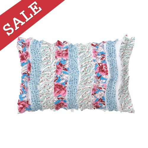 Modern Living Abigail Wavy Ruffle Decorative Pillow, 12 By 18-Inch front-890520
