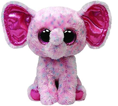 Ty Beanie Boos Buddies Ellie Pink Speckled Elephant Medium Plush - 1
