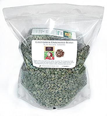 Sumatra Gayo Unroasted Green Coffee Beans, 3 lb by Sriwijaya Coffee Company
