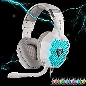Rayshop - SADES A70 USB Gaming Headphone 7.1 Sound with Mic LED Breathing Light Remote Control for PC