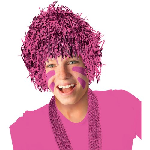 Pink Tinsel Wig - 1