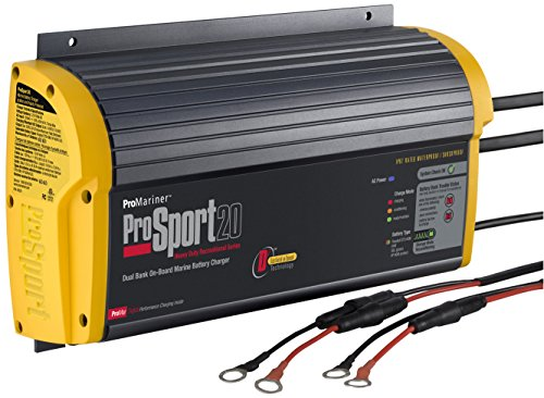 ProMariner 43020 ProSport 20 Dual 3rd Generation 20 Amp 12/24 Volt 2 Bank Battery Charger (Boat Battery Charger 3 Bank compare prices)