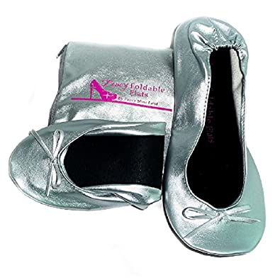 Women's Ballet Flats Foldable Flats WITH EXPANDABLE TOTE ...