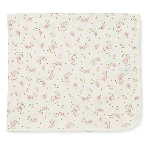 Little Me Girls Rose Print Tag Along Blanket One Size (Ivory) front-280962