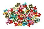 Pack of 50PCS Butterflies Buttons-Mix...