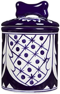Creature Comforts Mexican Treat Jar - Blue & White Talavera - Small