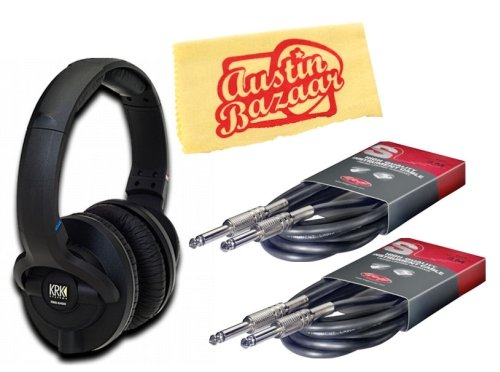 KRK KNS 6400 Studio Headphones Bundle  Two 10-Foot
