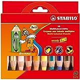 Stabilo Crayons de couleur 3 en 1 Woody (Import Allemagne)