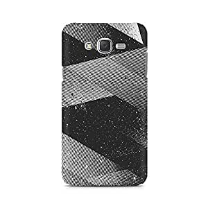 Mobicture Gradient Black Lines Premium Printed Case For Samsung J3 2016