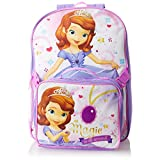 Disney Little Girls'  Princess Sofia Backpack with Lunch Set, Purple, One Size
