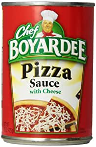 Chef Boyardee Pizza Sauce with Cheese, 15oz Cans (Pack of 12)