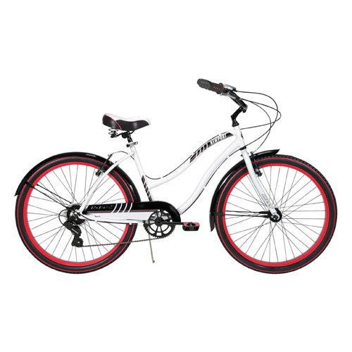 Huffy Women's Newport Cruiser Bike, Gloss White, 26-Inch/Medium