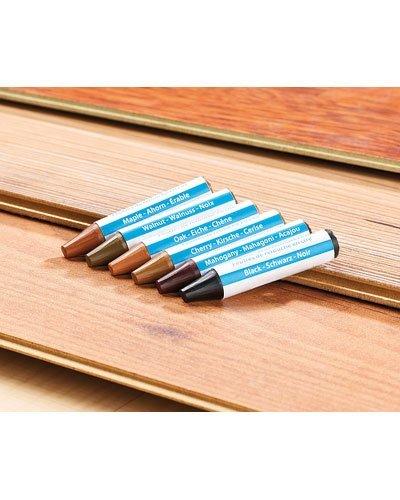 6 feutres de retouche en cire pour meubles en bois for Stickers pour meuble en bois
