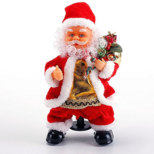 dancing santa claus does the splits animated christmas decorations indoor plays jingle bells