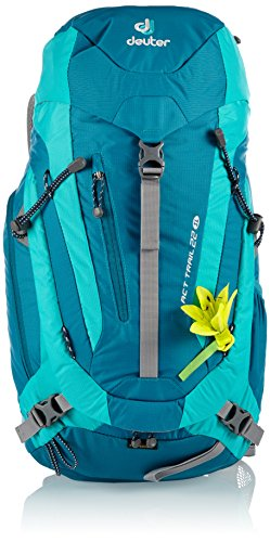 Deuter ACT Trail 22 SL Backpack - Petrol/Mint (22 Liter Backpack Rain Cover compare prices)