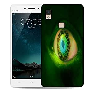 Snoogg clock in a green eye 2605 Designer Protective Back Case Cover For Vivo V3 Max