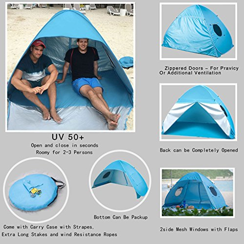 Icorer Pop Up Instant Portable Outdoors 2 3 Person Beach