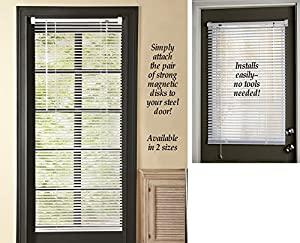 "Magnetic Window Blinds White 25"" X 40"""