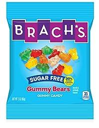 Brach\'s Gummy Bears, Sugar Free Candy, 3 Ounce Bag, Pack of 12