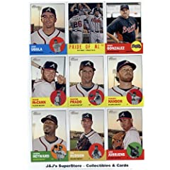2012 Topps Heritage Atlanta Braves Base Team Set (Sealed) -17 Cards including...