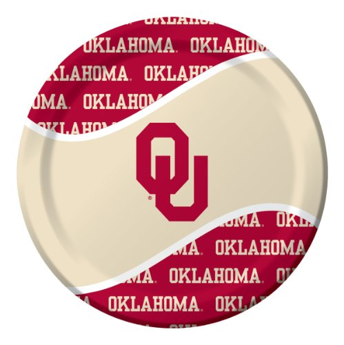 Creative Converting Oklahoma Sooners Dinner Paper Plates (8 Count)