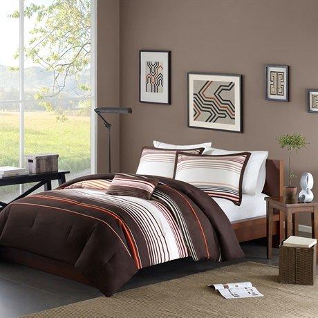 Mizone Grayson Comforter Set - Brown - Full/Queen front-266628