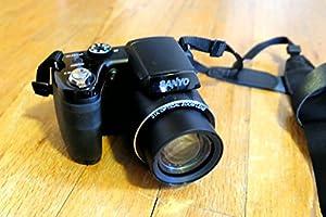 "Sanyo VPC-E2100BK 14MP Digital Camera, 14MP, 21x zoom (25mm wide), 3"" (460k) LCD, CCD Sensor Shift image stabilization, 720p HD video, Intelligent Scene Mode, Uses 4-AA batteries"