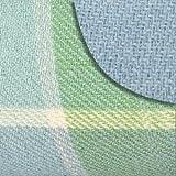 Picnic Plus Mega Mat Waterproof Picnic / Stadium Blanket with Shoulder Strap, Light Blue Plaid