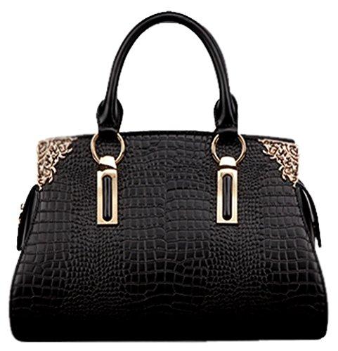 saierlong-womens-cross-body-bag-handbag-tote-black-cow-leather-croco-crocodile-ol-commuter-dimension