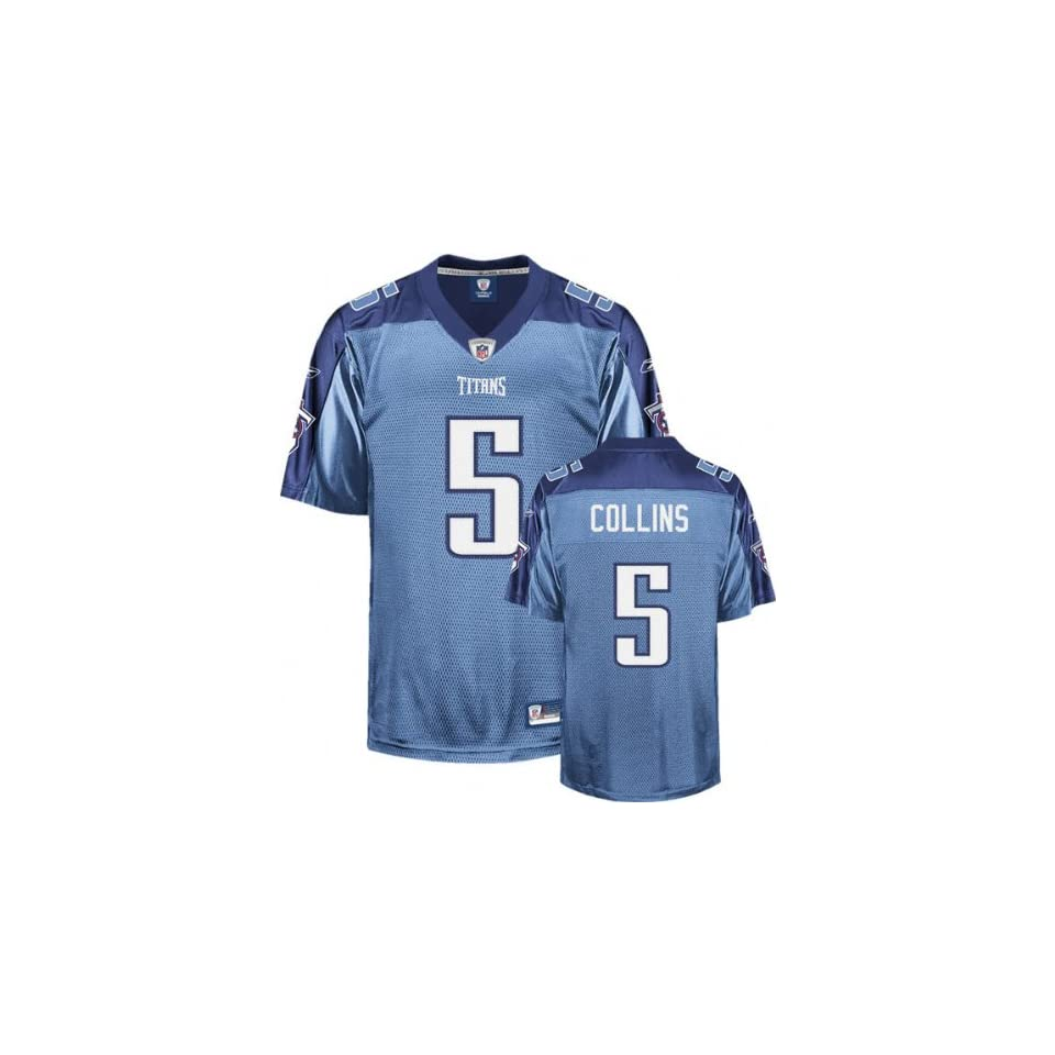 Kerry Collins Light Blue Reebok NFL Premier Tennessee Titans Jersey